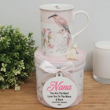 Nan Mug with Personalised Gift Box - Magnolia Bird