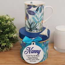 Nan Mug with Personalised Gift Box - Tropical Blue