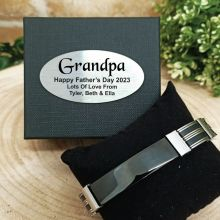 Grandpa ID Link Bracelet In Personalised Box