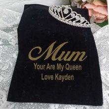 Mum Large Heart Tiara in Personalised Bag