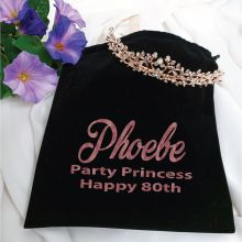 80th Birthday Alyssa Tiara Rose Gold in Personalised Bag
