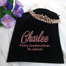 Godmother Alyssa Tiara Rose Gold in Personalised Bag