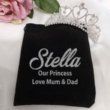 Medium Heart Tiara in Personalised Bag