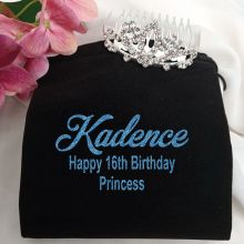 16th Birthday Small Flower Tiara in Personalised Bag