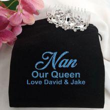 Nan Birthday Small Flower Tiara in Personalised Bag