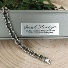 Coach Stainless Steel Link Bracelet