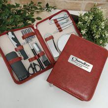Groomsman Mens Brown Grooming Kit