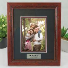 Dad Photo Frame 5x7 Wooden with Black Surround