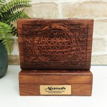 Coach Flower Of Life Carved Wooden Trinket Box