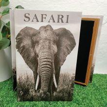 Elephant Black & White Stash Book Box