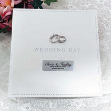 Personalised Wedding Day White Photo Album 5x7