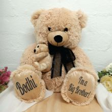 Personalised Brother Teddy Bear with Black Bow
