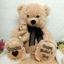 Grandma's Day Teddy Bear Plush - Black