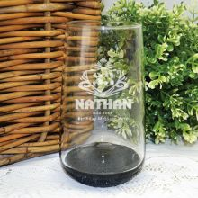 Birthday Engraved Personalised Glass Tumbler (M)