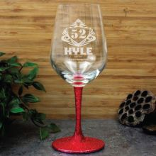 70th Birthday Engraved Personalised Wine Glass 450ml (M)