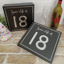 18th Birthday Keepsake Box & Scrap Book Set