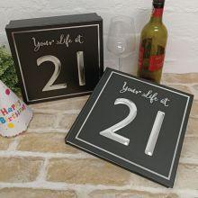 21st Birthday Keepsake Box & Scrap Book Set