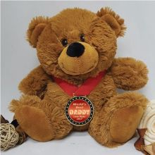 Dad Personalised Teddy Bear with Award Medal