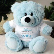 Personalised Memorial Teddy Bear - Blue