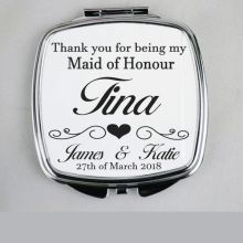 Maid of Honour  Compact Mirror Typography Print