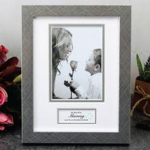 Personalised Mum Photo Frame White / Silver Wood 4x6 Photo