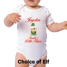 Personalised Christmas Baby Bodysuit -Santa's Helper