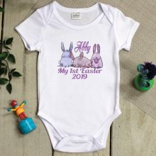 Personalised 1st Easter Bodysuit - Pastel Bunny