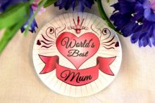 Worlds Best Mum Badge -5cm