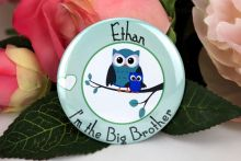 Personalised Big Brother Badge Owl