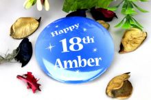 Personalised 18th Blue Star Badge