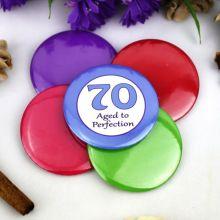 70th Birthday Party Badge