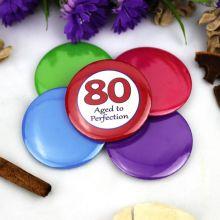 80th Birthday Party Badge