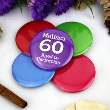 Personalised 60th Birthday Party Badge