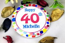 Personalised 40th Party Badge