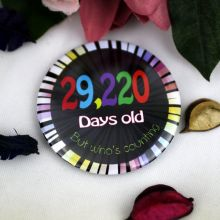 Humorous 80th Birthday Badge