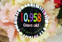 Humorous 30th Birthday Badge