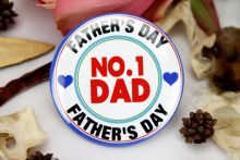 No.1 Dad Badge