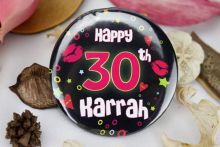 Personalised 30th Party Badge