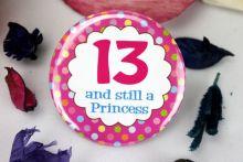 13th Birthday Princess Badge