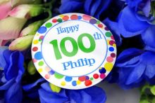 Personalised 100th Party Badge