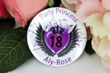 Party Princess Personalised 18th Badge