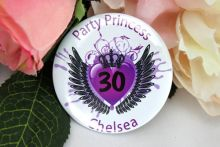 Party Princess Personalised 30th Badge