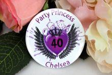 Party Princess Personalised 40th Badge