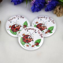 To Be...Baby Shower Badge Ladybird