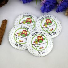 To Be....Baby Shower Badge Owl