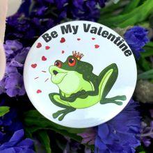Be My Valentine Frog Prince Badge