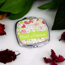 Maid Of Honour Compact Mirror Gift Paisley