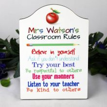 Teacher Class Rules Plaque - Personalised Gift