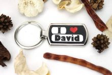 I Love You keyring - Black
