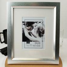 Tribeca Crosshatch Silver 5x7 Photo Frame